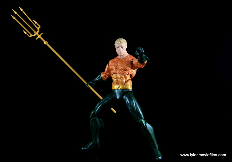 DC Icons Aquaman figure review - wide pose with trident