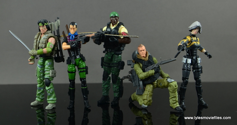 GI Joe Heavy Conflict Heavy Duty and Stiletto figure review - Dart, Stiletto, Heavy Duty and Helix