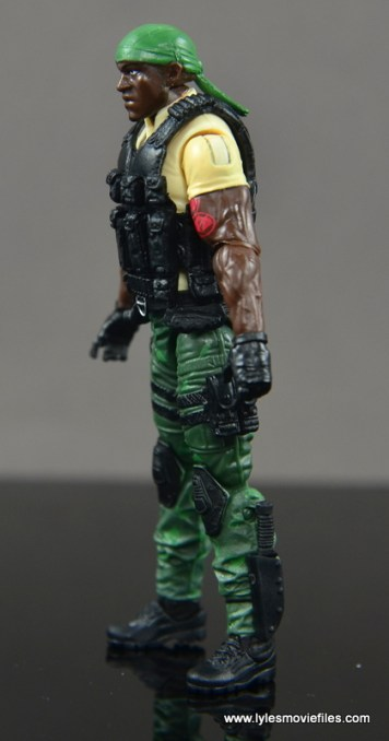 GI Joe Heavy Conflict Heavy Duty and Stiletto figure review - Heavy Duty left side