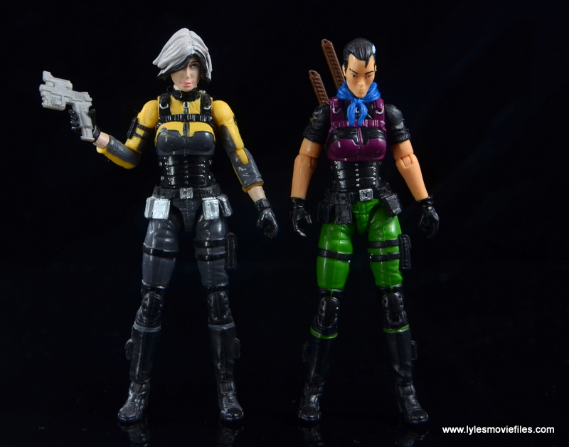 GI Joe Heavy Conflict Heavy Duty and Stiletto figure review - Helix and Stiletto
