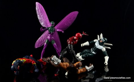 Marvel Legends Beetle figure review -helping Superior Foes vs Spider-Man