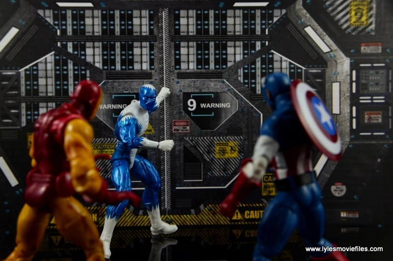 Marvel Legends Blizzard figure review -face off with Iron Man and Captain America