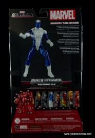 Marvel Legends Blizzard figure review -package rear