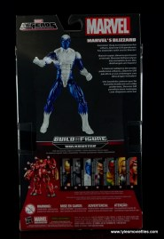 Marvel Legends Blizzard figure review -package rear