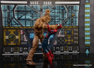 Marvel Legends The Raft figure review - Sandman choking out Spider-Man