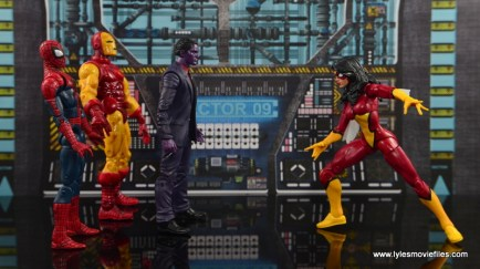Marvel Legends The Raft figure review - The Purple Man scale with Spider-Man, Iron Man and Spider-Woman