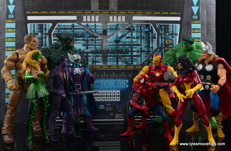 Marvel Legends The Raft figure review - face off with The Avengers