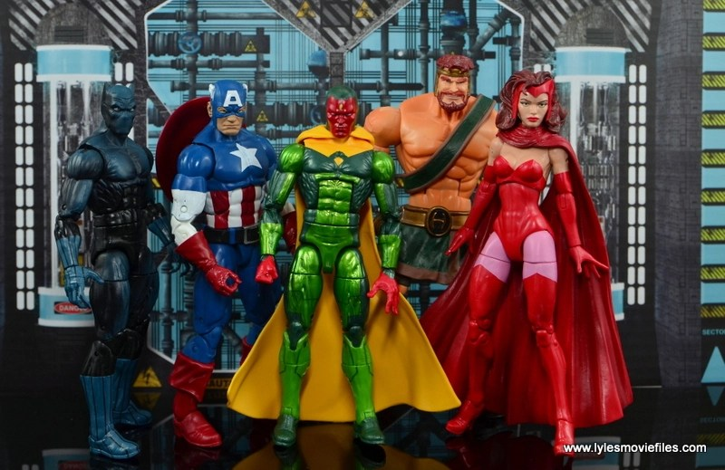 Marvel Legends Vision figure review - Avengers Black Panther, Captain America, Vision, Hercules and Scarlet Witch