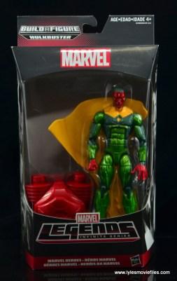 Marvel Legends Vision figure review - front package