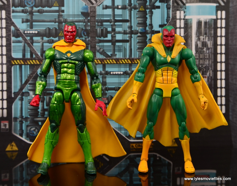 Marvel Legends Vision figure review - scale with Toy Biz Vision