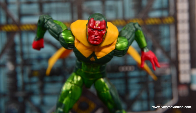 Marvel Legends Vision figure review -taking off to fly