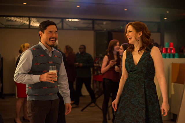 Office-Christmas-Party-review-Randall-Park-and-Vanessa-Bayer