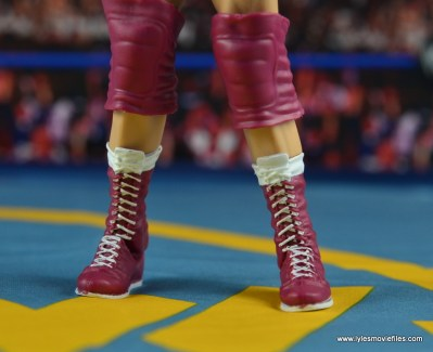 WWE Elite 45 Steve Regal figure review - boot close up