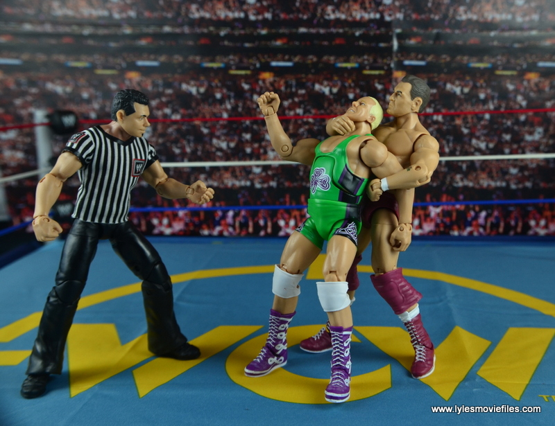 WWE Elite 45 Steve Regal figure review - crossface chickenwing