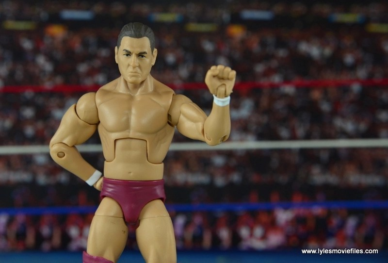 WWE Elite 45 Steve Regal figure review - hand up