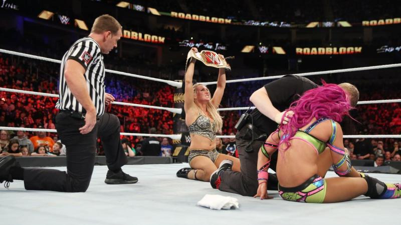WWE Roadblock 2016 - Charlotte with Women's Title