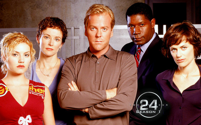 24 Season 1 - Kim, Terri, Jack Bauer, David Palmer and Nina