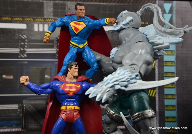 DC Multiverse Elite-23 Superman figure review - Superman battling Doomsday