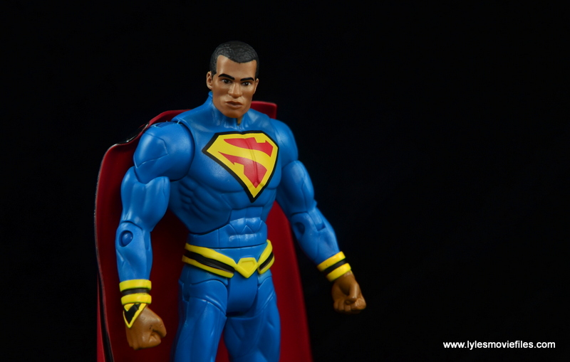DC Multiverse Elite-23 Superman figure review - on black backdrop