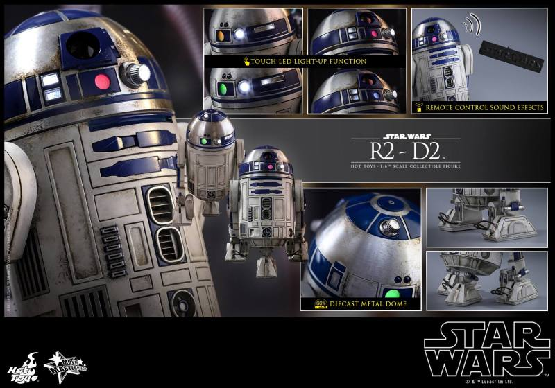 Hot Toys Star Wars The Force Awakens R2-D2 figure - collage