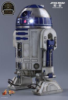 Hot Toys Star Wars The Force Awakens R2-D2 figure - left side