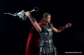 Hot Toys Thor figure review Avengers Age of Ultron -wide shot of lightning Mjloner