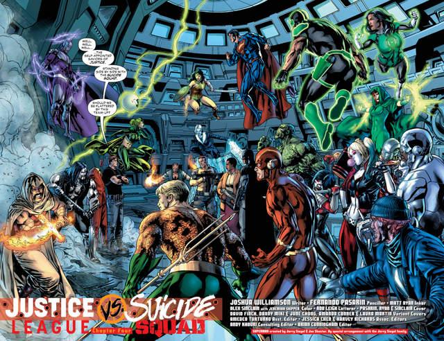 Justice League vs Suicide Squad #4 interior art