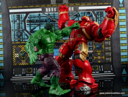 Marvel Legends Hulkbuster Iron Man figure review - getting punched by Hulk
