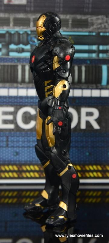 Marvel Legends Marvel Now Iron Man figure review -left side