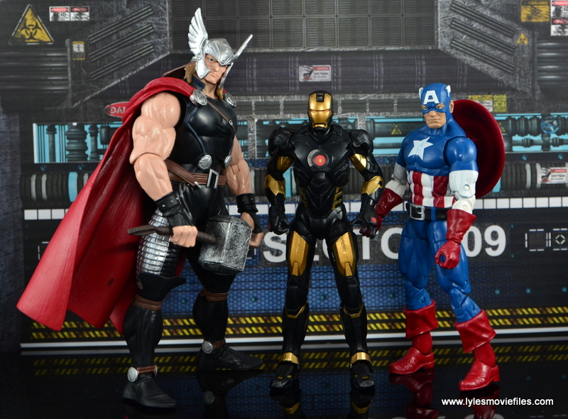 Marvel Legends Marvel Now Iron Man figure review - with Thor and Captain America