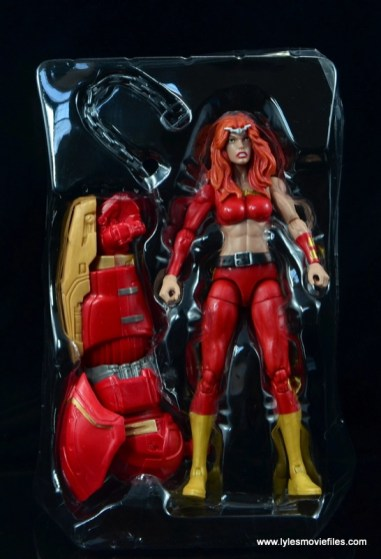 Marvel Legends Thundra figure review -in plastic tray