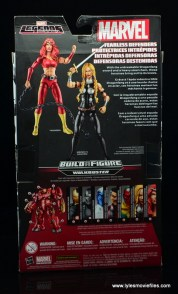 Marvel Legends Thundra figure review -package rear
