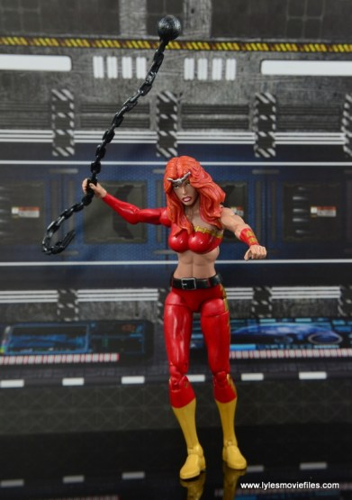 Marvel Legends Thundra figure review - raising ball and chain
