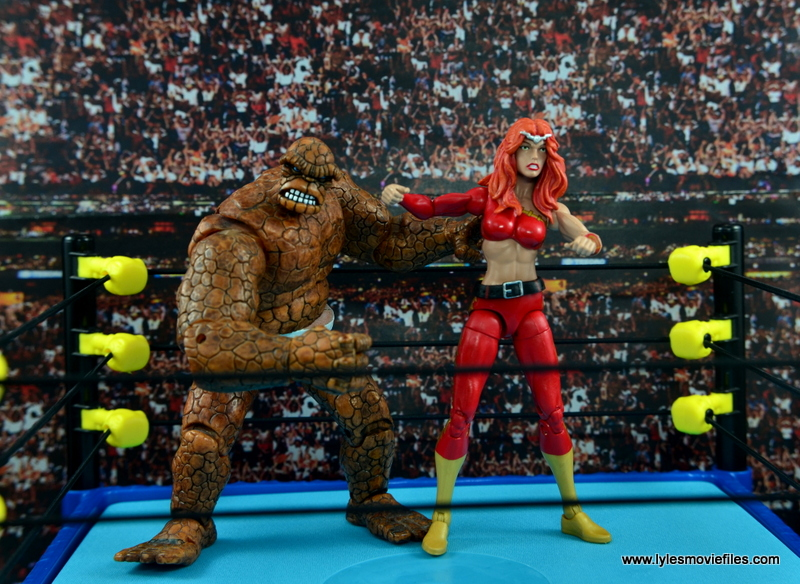 Marvel Legends Thundra figure review - ready to wrestle with The Thing