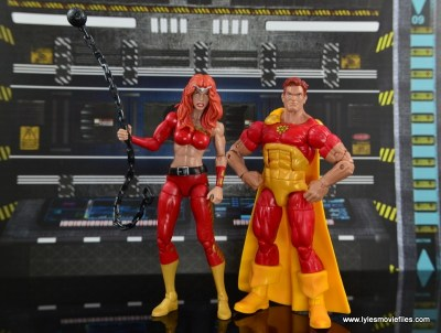 Marvel Legends Thundra figure review -with Hyperion