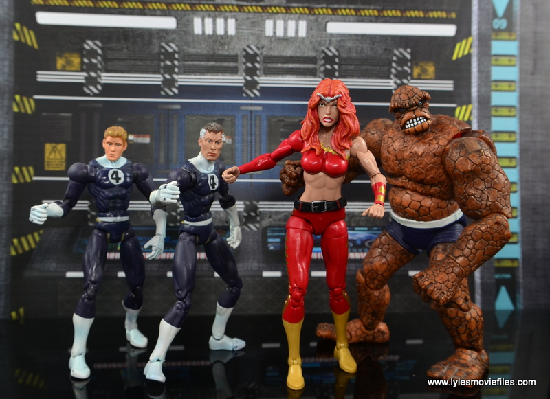 Marvel Legends Thundra figure review -with the Fantastic Four