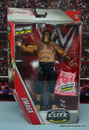 WWE Elite 40 Umaga figure review - package front
