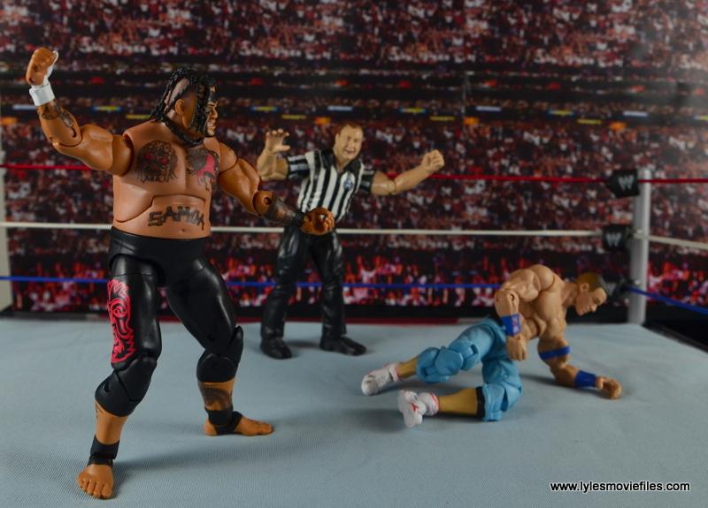 WWE Elite 40 Umaga figure review - stalking John Cena