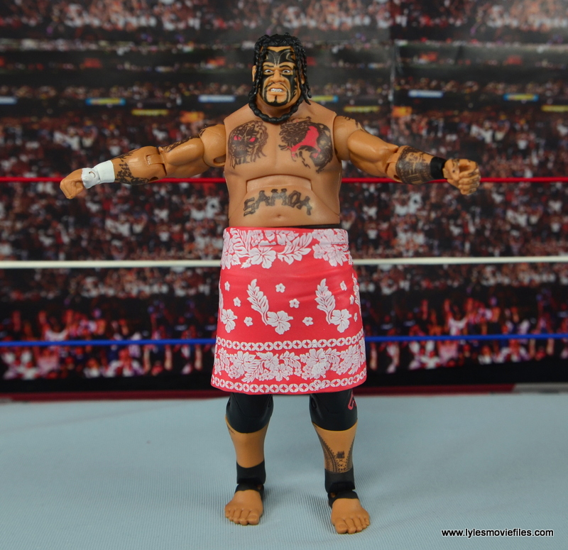 WWE Elite 40 Umaga figure review - with sarong