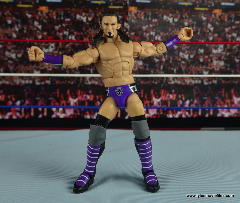 WWE Elite 42 Neville figure review - arms outstretched