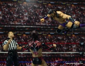 WWE Elite 42 Neville figure review - diving onto Finn Balor