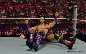 WWE Elite 42 Neville figure review - splash on Finn Balor