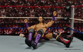 WWE Elite 42 Neville figure review - splash on Finn Balor