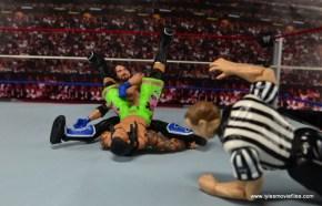 WWE Elite AJ Styles figure review - Styles Clash pinfall