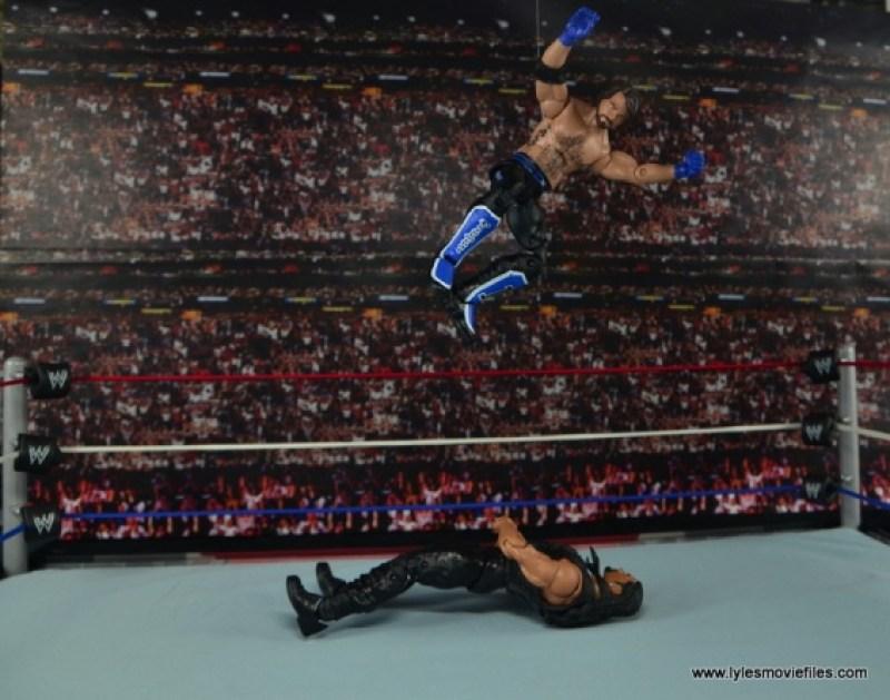 WWE Elite AJ Styles figure review - flying knee