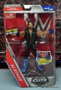 WWE Elite AJ Styles figure review - package front