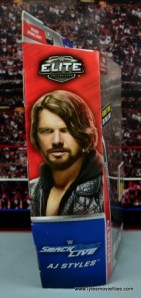 WWE Elite AJ Styles figure review - package side right