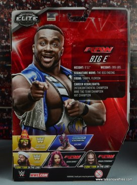 WWE Elite New Day figure review - Big E rear package