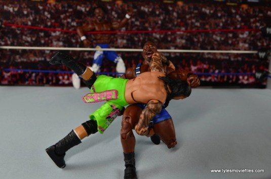 WWE Elite New Day figure review - gut buster to Uso