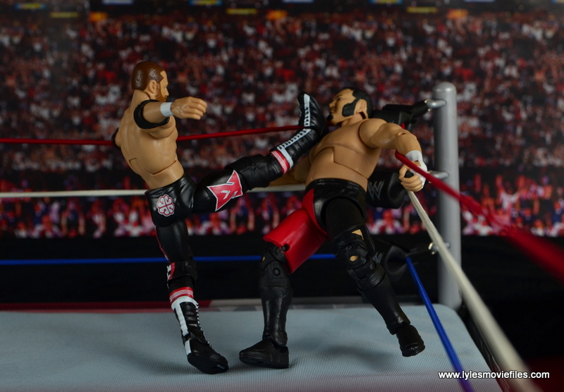 WWE Elite Sami Zayn figure review - helluva kick to Samoa Joe